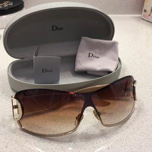 Gold Dior Sunglasses